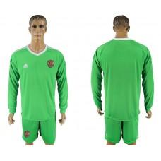 Men 2018 World Cup National Russia green goalkeeper long sleeve soccer jersey