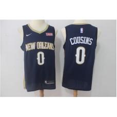 Men New Orleans Pelicans 0 Cousins Blue Game Nike NBA Jerseys
