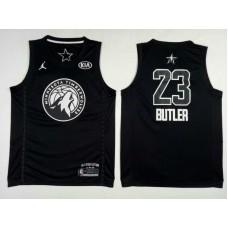Men Minnesota Timberwolves 23 Butler Black 2108 All Stars NBA Jerseys