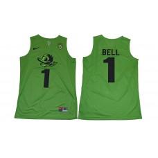 Men Oregon Ducks 1 Bell Green NCAA Jerseys