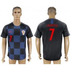Men 2018 World Cup Croatia away aaa version 7 blue soccer jersey