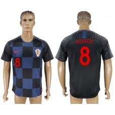 Men 2018 World Cup Croatia away aaa version 8 blue soccer jersey