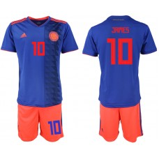 2018 World Cup Men Colombia away 10 soccer jersey