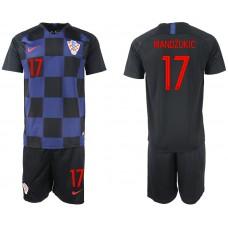 2018 World Cup Men Croatia away 17 soccer jersey