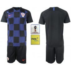 2018 World Cup Men Croatia away soccer jersey
