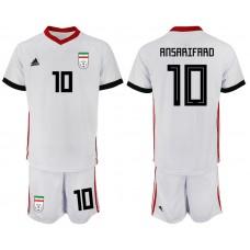 2018 World Cup Men Iran home 10 soccer jersey