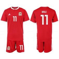 2018-2019 Men nationa Welsh home 11 red  soccer jersey