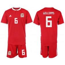 2018-2019 Men nationa Welsh home 6 soccer jersey