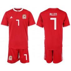 2018-2019 Men nationa Welsh home 7 soccer jersey
