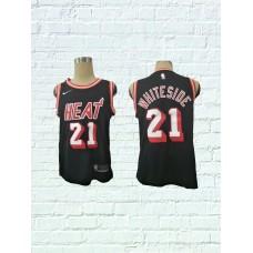 2018 Men Miami Heat 21 Whiteside Black Game Nike throwback NBA Jerseys
