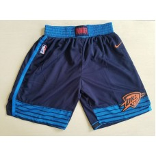 2018 Men NBA Nike Oklahoma City Thunder drak blue shorts