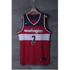 2018 Men NBA Washington Wizards 2 John Wall Red game Jerseys