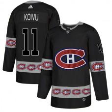 2018 NHL Men Montreal Canadiens 11 Koivu black jerseys