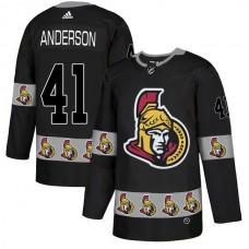 2018 NHL Men Ottawa Senators 41 Anderson black jerseys
