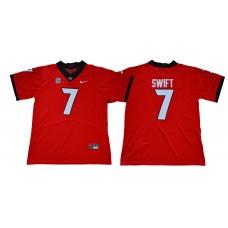 Men Georgia Bulldogs 7 Swift Legend red NCAA Jerseys