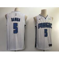 Men NBA Orlando Magic 5 Bamba white game Nike NBA Jerseys