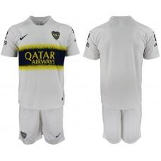 Men 2018-2019 club Boca Juniors away blank white soccer jersey