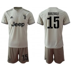 Men 2018-2019 club Juventus away 15 grey Soccer Jerseys