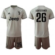 Men 2018-2019 club Juventus away 26 grey Soccer Jerseys