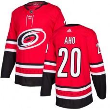 Adidas Carolina Hurricanes 20 Sebastian Aho Red Home Authentic Stitched Youth NHL Jersey