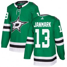 Adidas Dallas Stars 13 Mattias Janmark Green Home Authentic Youth Stitched NHL Jersey