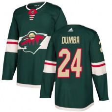 Adidas Men Minnesota Wild 24 Matt Dumba Green Home Authentic Stitched NHL Jersey