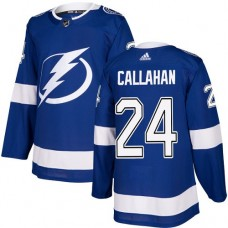 Adidas Men Tampa Bay Lightning 24 Ryan Callahan Blue Home Authentic Stitched NHL Jersey
