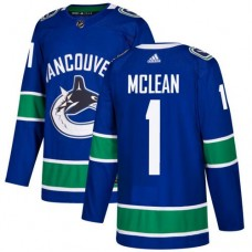 Adidas Men Vancouver Canucks 1 Kirk Mclean Blue Home Authentic Stitched NHL Jersey