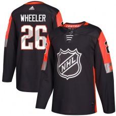 Adidas Men Winnipeg  Jets 26 Blake Wheeler Black 2018 All-Star NHL Jersey