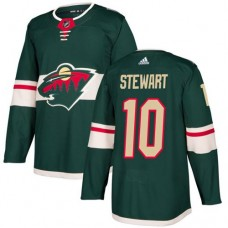 Adidas Minnesota Wild 10 Chris Stewart Green Home Authentic Stitched Youth NHL Jersey