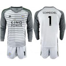 Men 2018-2019 club Leicester City gray long sleeve goalkeeper 1 Soccer Jerseys