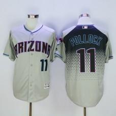 Men Arizona Diamondback 11 Pollock Grey MLB Jerseys
