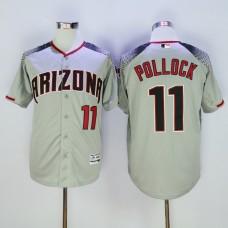 Men Arizona Diamondback 11 Pollock Grey MLB Jerseys1