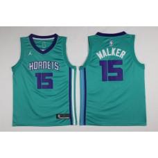 Men Charlotte Hornets 15 Kemba Walker Green Swingman Edition NBA Jersey