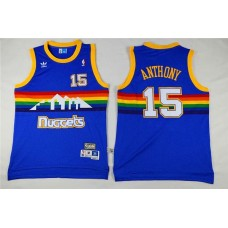Men Denver Nuggets 15 Anthony Blue Adidas NBA Jerseys