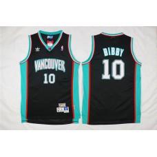 Men Memphis Grizzlies 10 Bibby Black Throwback NBA Jerseys