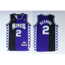 Men Sacramento Kings 2 Richmond Black purple NBA Jerseys