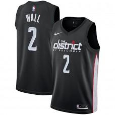 Men Washington Wizards 2 Wall Black City Edition Game Nike NBA Jerseys