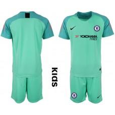 2018_2019 Club Chelsea green Youth goalkeeper soccer jerseys
