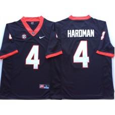 Men Georgia Bulldogs 4 Hardman Black Nike NCAA Jerseys