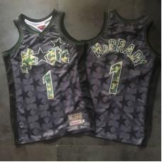 Men Orlando Magic 1 Mcgrady Black Trowback Camo Swingman NBA Jersey