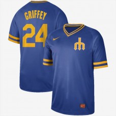 2019 Men MLB Seattle Mariners 24 Griffey blue Nike Cooperstown Collection Jerseys
