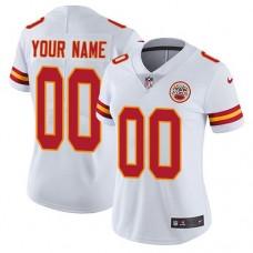 2019 NFL Women Nike Kansas City Chiefs Road White Customized Vapor jersey