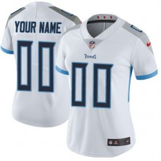 2019 NFL Women Nike Tennessee Titans White Road Customized Vapor jersey