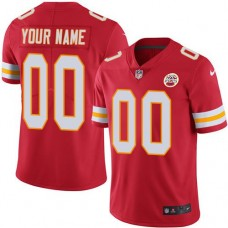 2019 NFL Youth Nike Kansas City Chiefs Home Red Customized Vapor jersey
