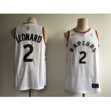 2019 Men Toronto Raptors 2 Leonard white Game NBA Nike Jerseys
