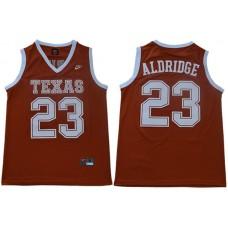 Men Texas Longhorns 23 Aldridge Orange Nike NCAA Jerseys