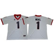 Men Georgia Bulldogs 1 Michel White Limited Stitched NCAA Jersey