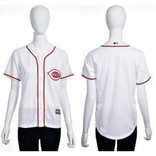 2016 MLB Cincinnati Reds Blank white women jerseys