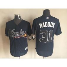 2016 MLB FLEXBASE Atlanta Braves 31 Maddux blue jerseys
